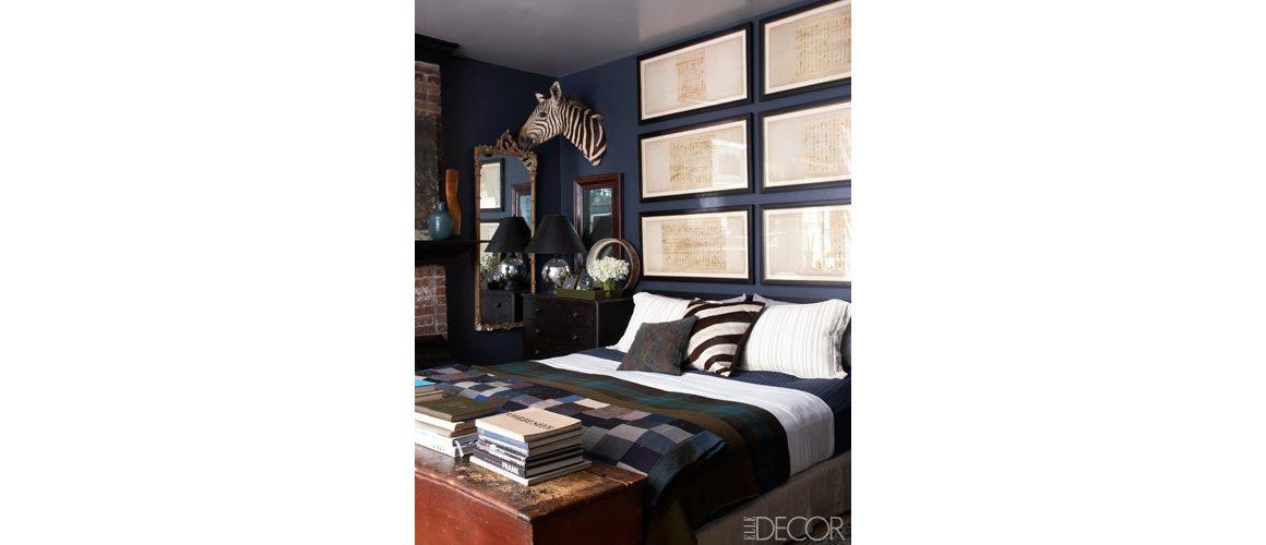 dormitor masculin bleumarin