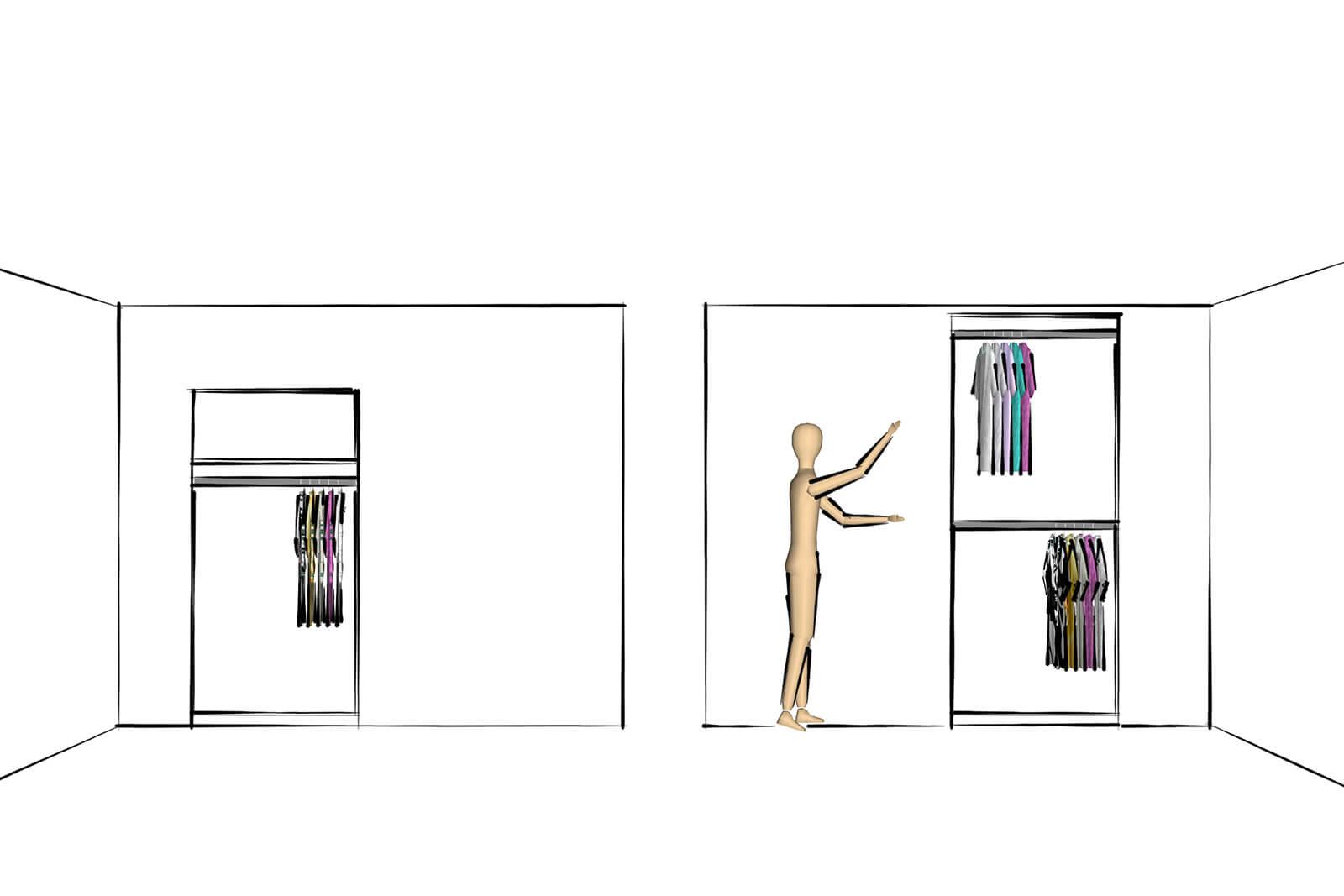 Cum cer clienții un dulap de haine